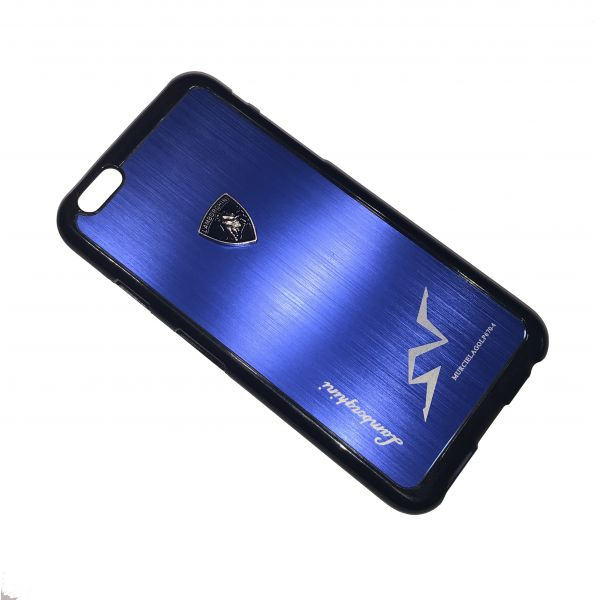 Kovový obal ZHO Lamborghini pro Apple iPhone 6 a 6S - Modrá  6412c8c4b0c